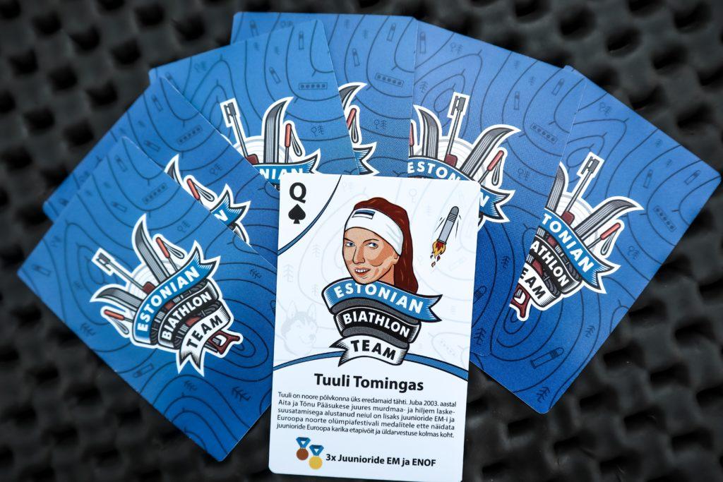 Laskesuusatamise mängukaartide tellimine. Biathlon playing cards.